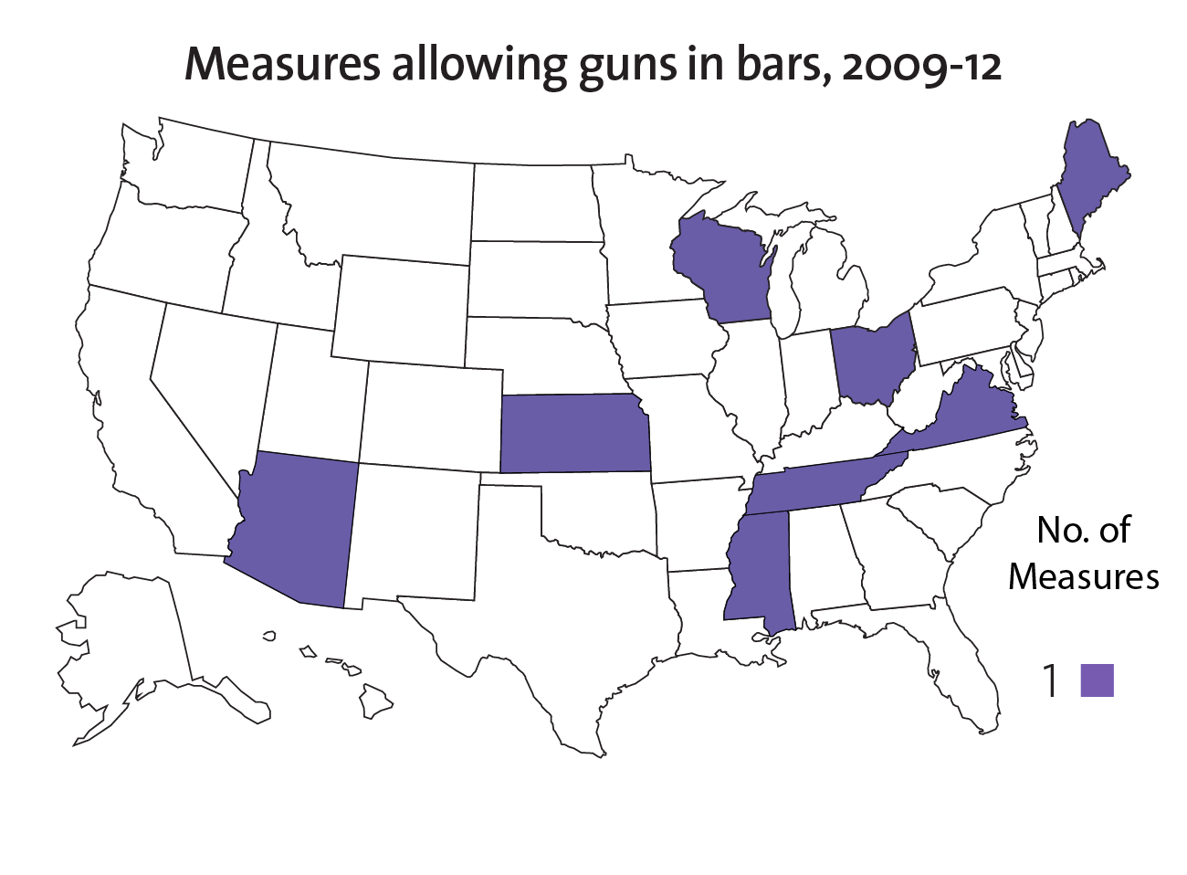The NRA Surge Laws Rolling Back Gun Restrictions Mother Jones - Map of bars in us
