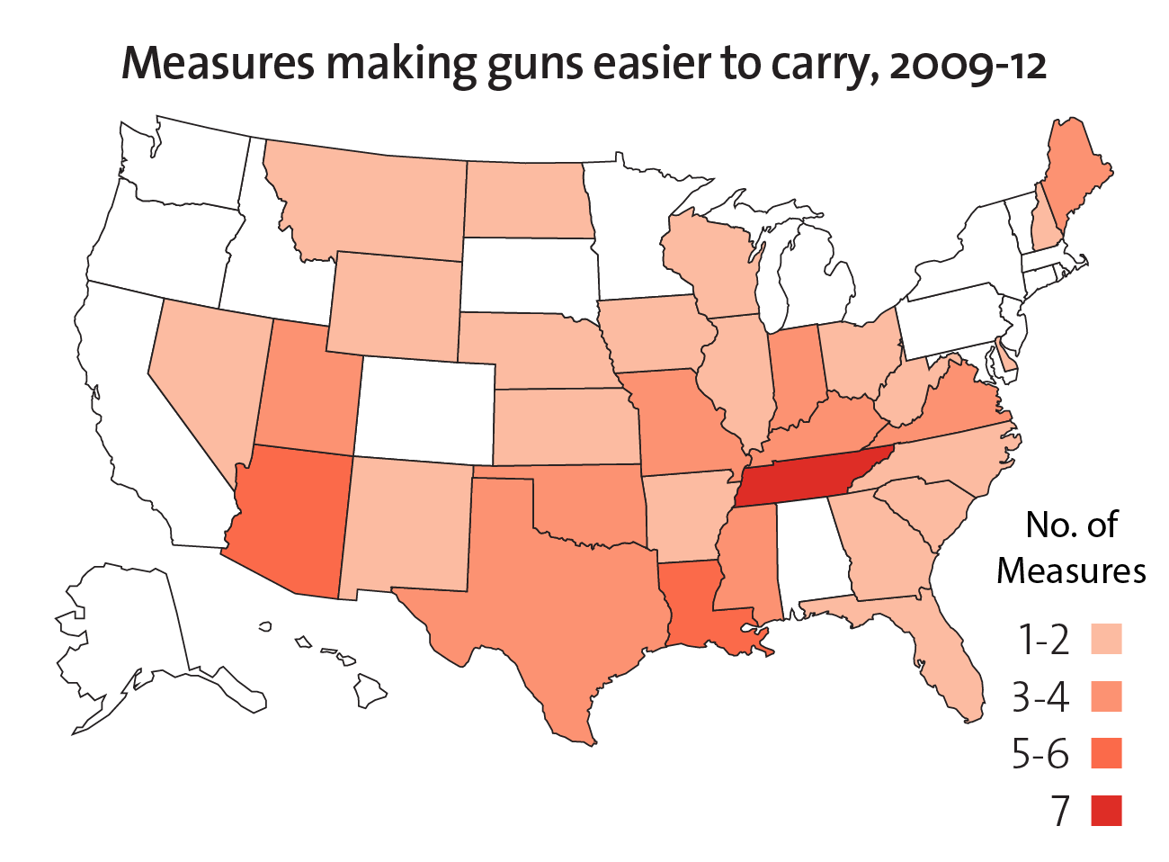 The NRA Surge  Laws Rolling Back Gun Restrictions  Mother Jones - Us carry map