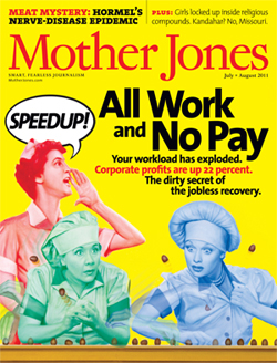 July/August Cover of Mother Jones Magazine