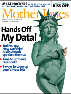 Mother Jones Magazine Cover : December + November 2011