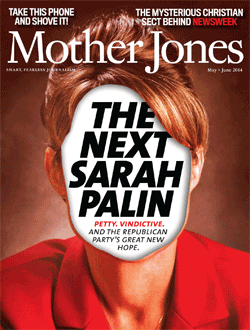 Mother Jones Magazine Cover : January + February 2014