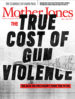 Mother Jones Magazine Cover : May + June 2015