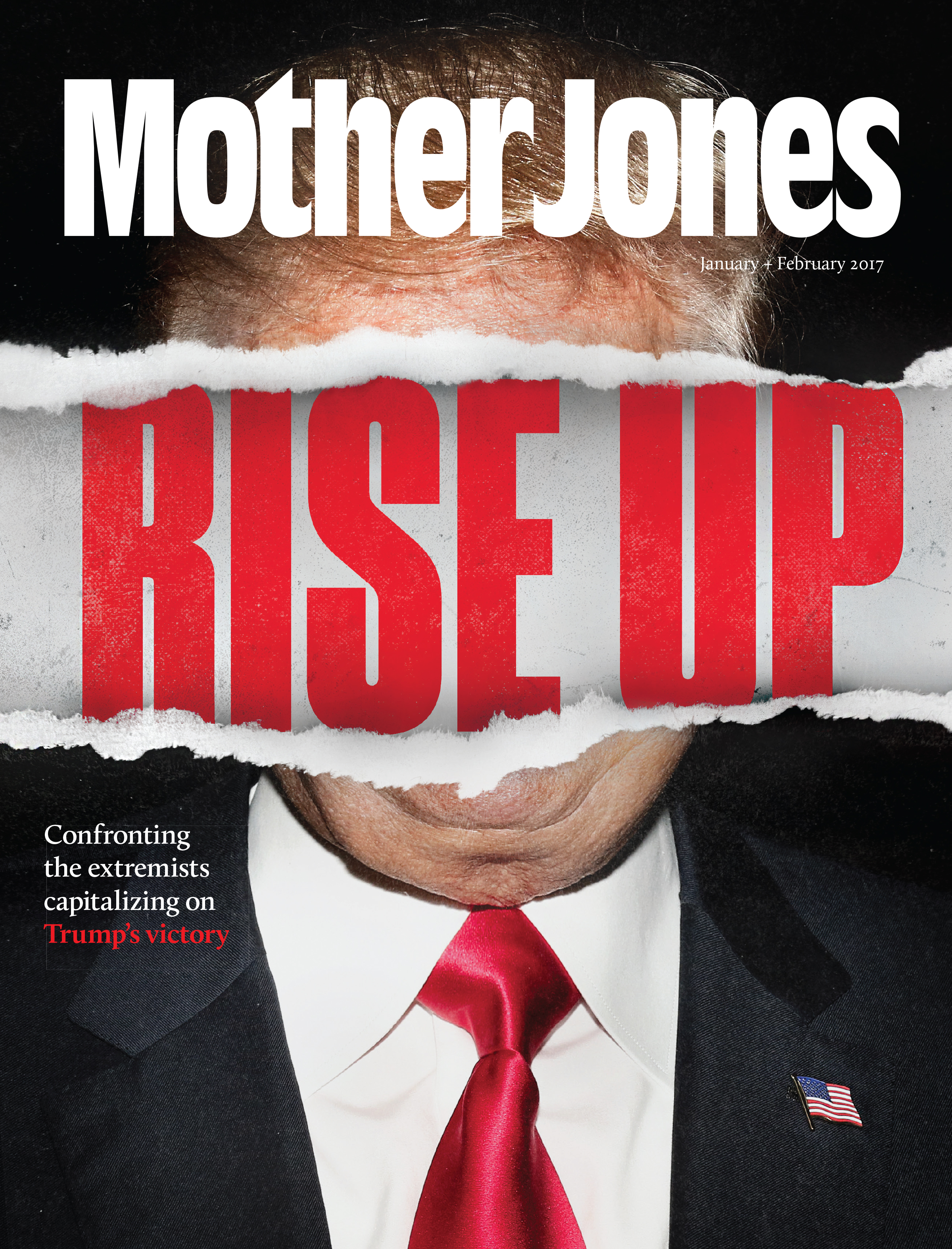 Mother Jones Magazine Cover : January + February 2016