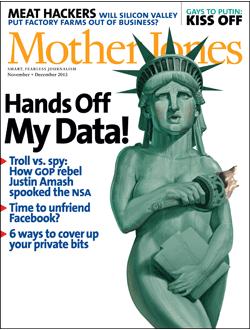 Mother Jones Magazine Cover : December + November 2011