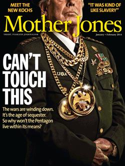 Mother Jones Magazine Cover : January + February 2014