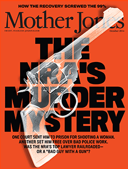 Mother Jones Magazine Cover : September + October 2014