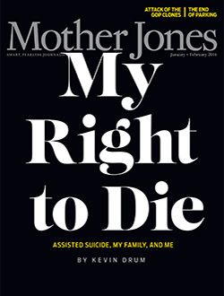 Mother Jones Magazine Cover : November + December 2015