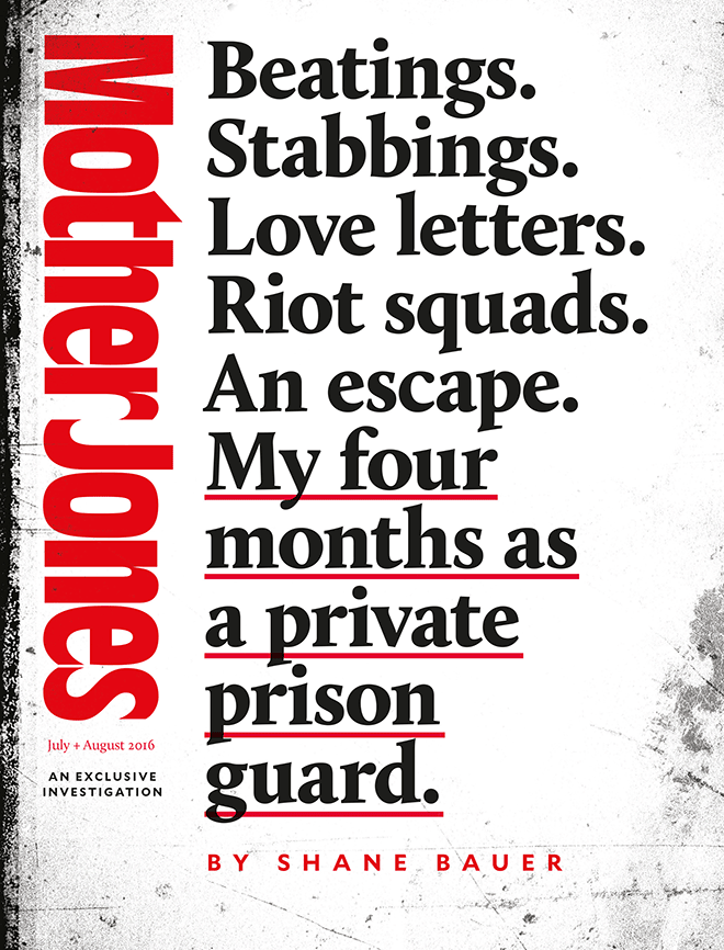 Mother Jones Magazine Cover : May + June 2016