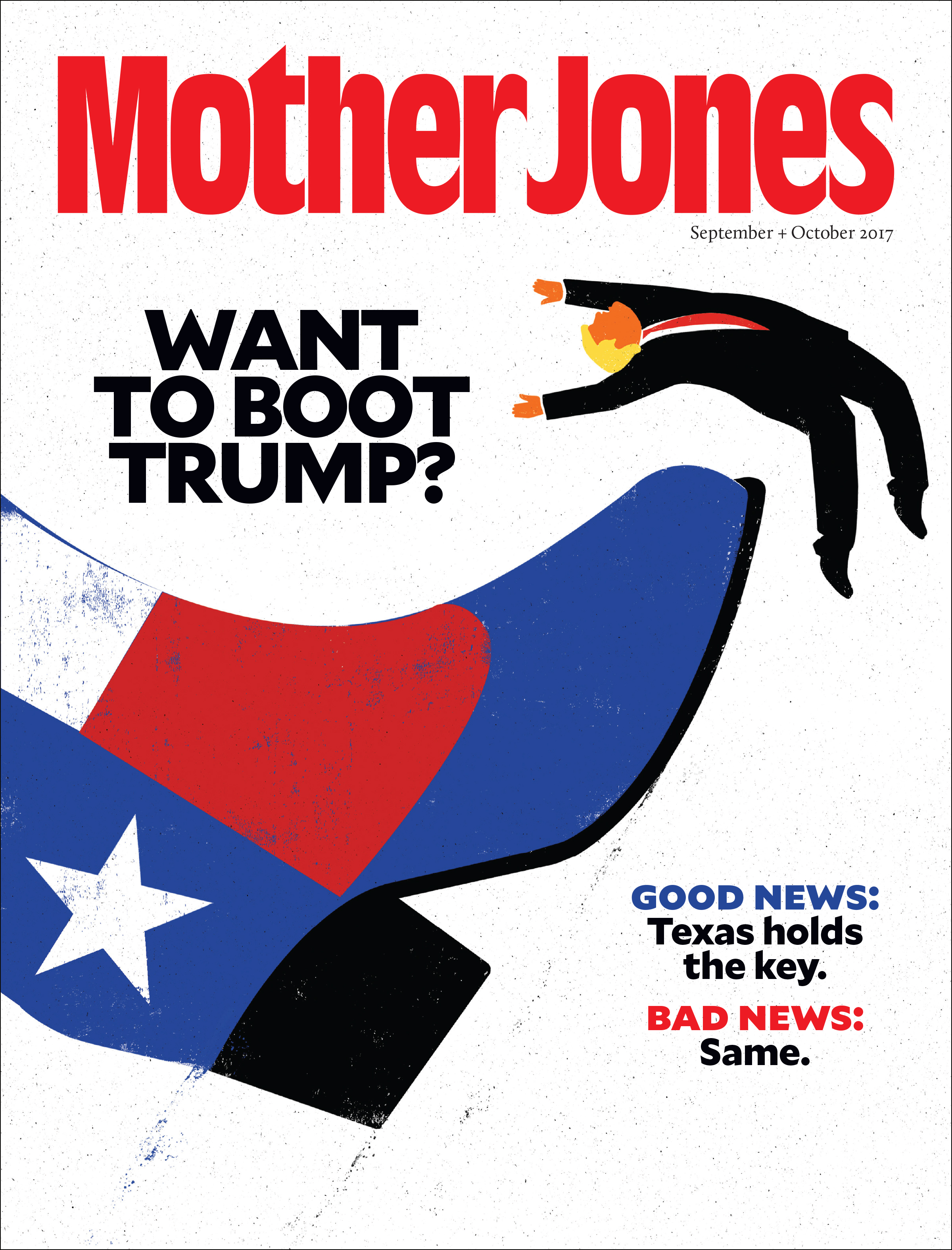 Mother Jones Magazine Cover : September + October 2017